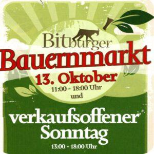 Voraussichtlich: Bauernmarkt in Bitburg @ Bedaplatz, Bitburg