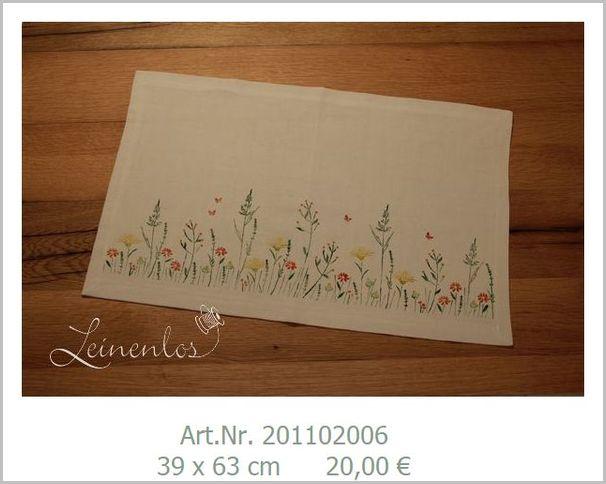 Leinenlos Blumenwiese